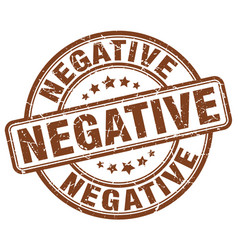 Negative brown grunge stamp vector