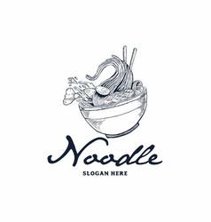 Noodle logo vector