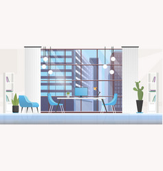 office interior room cartoon vector image
