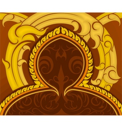 Pattern in traditional Thai style art vector