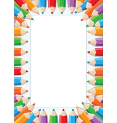 pencils card vector image