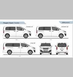 Peugeot expert traveller l1 l2 l3 2016-present vector