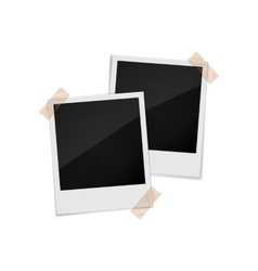 Photo frames on a white background vector