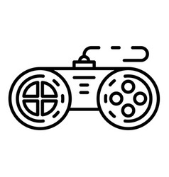 Plastic joystick icon outline style vector