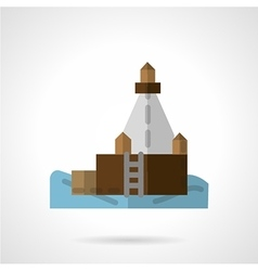 Port jetty flat icon vector