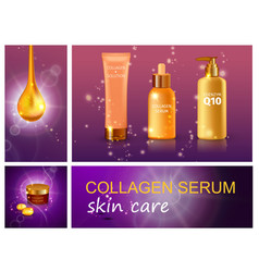 realistic cosmetic products composition vector image