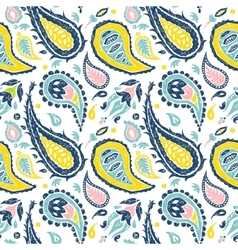 Seamless Paisley pattern in a white background vector