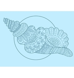 Seashell hand drawn vector