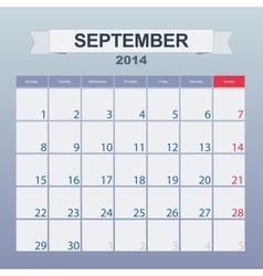 September 2014-planning calendar vector
