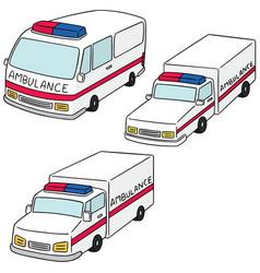 set of ambulance vector image