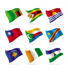 Set of world flags 12 vector