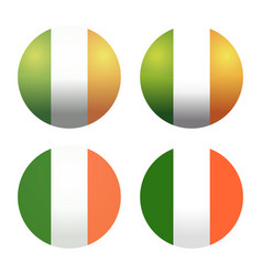 Set round irish flags vector