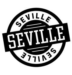 Seville black and white badge vector