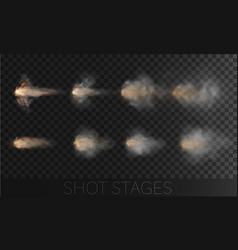 shoting set with different types and stage of vector image