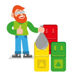 sorted trash vector image