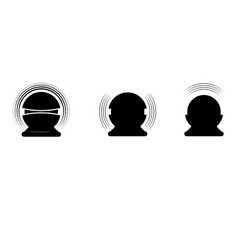 sound assistant silhouettes vector image