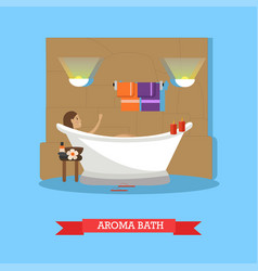 spa procedures aroma bath concept vector image