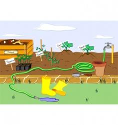 Starter garden vector