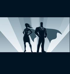 superhero business couple vector image