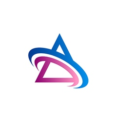 triangle color communication logo vector image