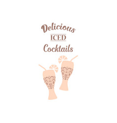 Two glasses beer and alcohol vector