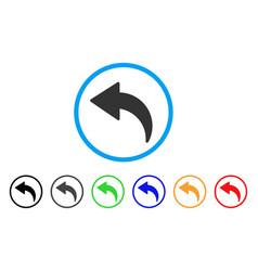 Undo rounded icon vector