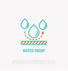 Waterproof material thin line icon vector