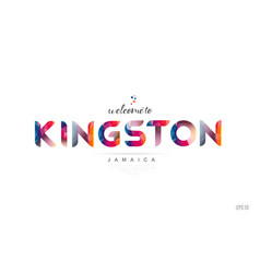 welcome to kingston jamaica card and letter vector image