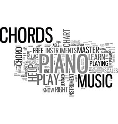 What can a free piano chord chart do for you text vector