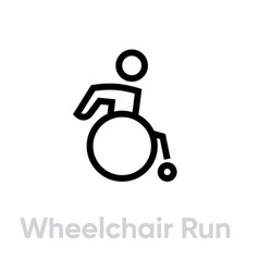 wheelchair run activity icon vector image