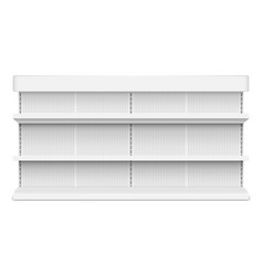 white empty store trading shelving rack for market vector image