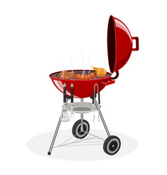 barbecue grill picnic camping cooking vector image vector image