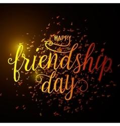 hand drawn happy friendship vector image