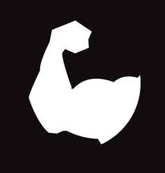 muscular arm vector image