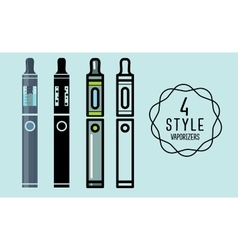 Set of flat icons vaporizers e-cigarette vector image vector image