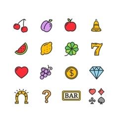 Slot Machine Icons Set vector image