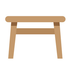 table flat icon furniture and interior vector image