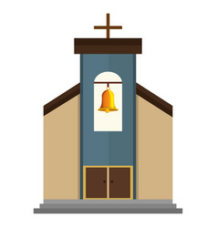 church building isolated icon vector image vector image