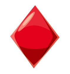 diamond suit plying card icon cartoon style vector image