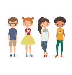 fashion boys and girls vector image vector image