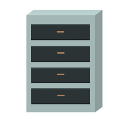 chest of drawers isolated on white background vector image
