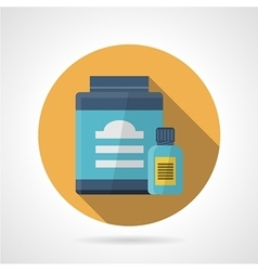 Flat color icon for sport supplements vector