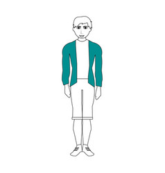 Handsome man with muscular body wearing sweater vector