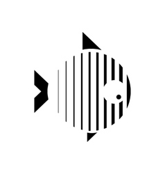 stylized of a fish Logo design for vector image