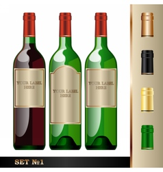 wine bottles mockup your label here vector image vector image