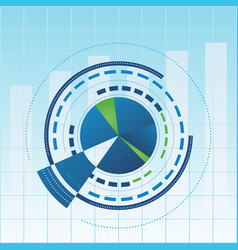 analytical report cover vector image