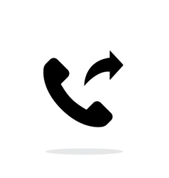 Call forwarding simple icon on white background vector image vector image