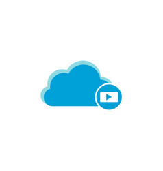 cloud computing icon movie play icon vector image
