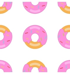 Donut pattern big vector