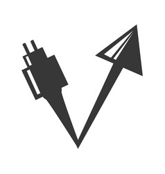 ecological energy alternatives icon vector image vector image